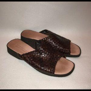 a04749c7a36859 ... Donald J. Pliner Size 10M Brown Leather Sandals ...